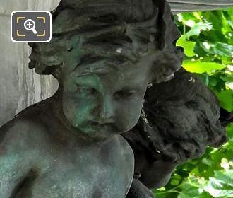 One Bronze Ronde d'Enfants Statue On Fontaine Nymphe Fluvialex