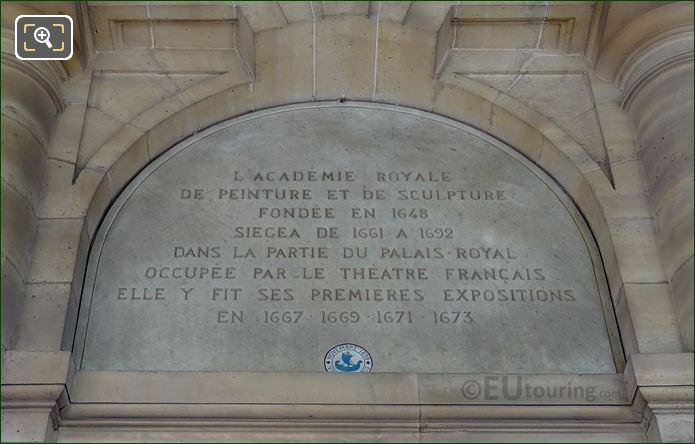 Inscription Above Pierre Corneille Sculpture