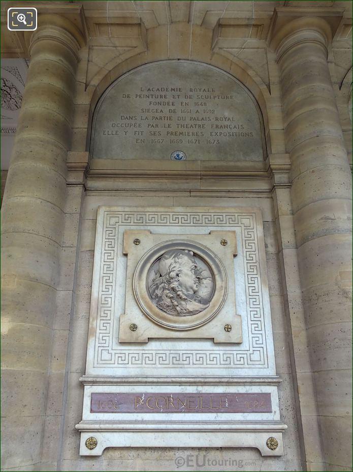 Comedie Francaise Pierre Corneille Sculpture And Inscription