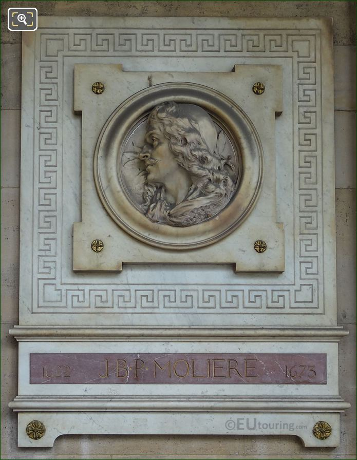 J B P Moliere Sculpture At Comedie Francaise In Paris