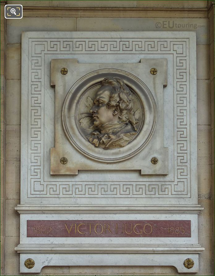 Victor Hugo Sculpture On Comedie Francaise In Paris