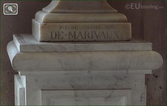 Inscription On Pierre Carlet De Chamblain De Marivaux Bust