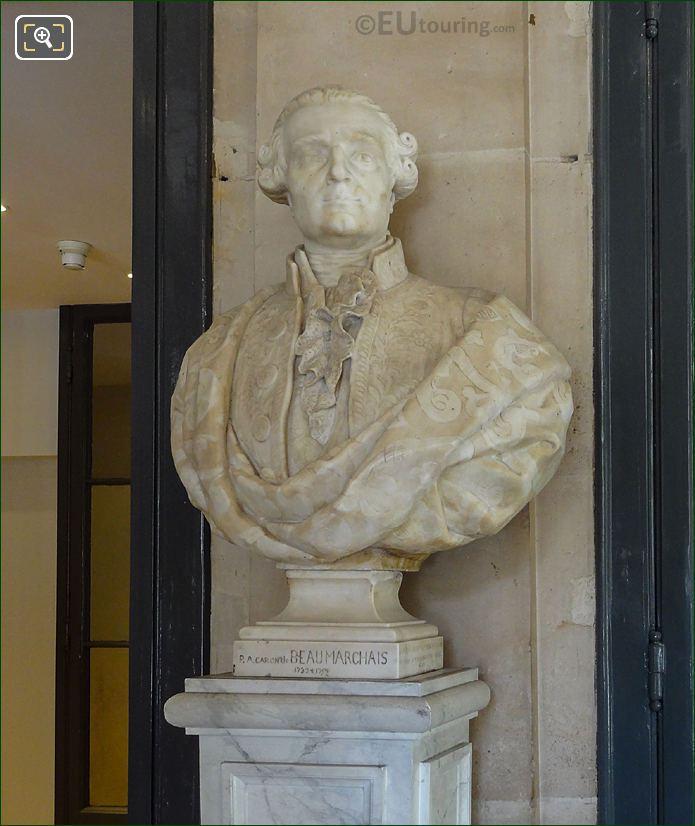 Pierre Augustin Caron De Beaumarchais Bust Inside Comedie Francaise
