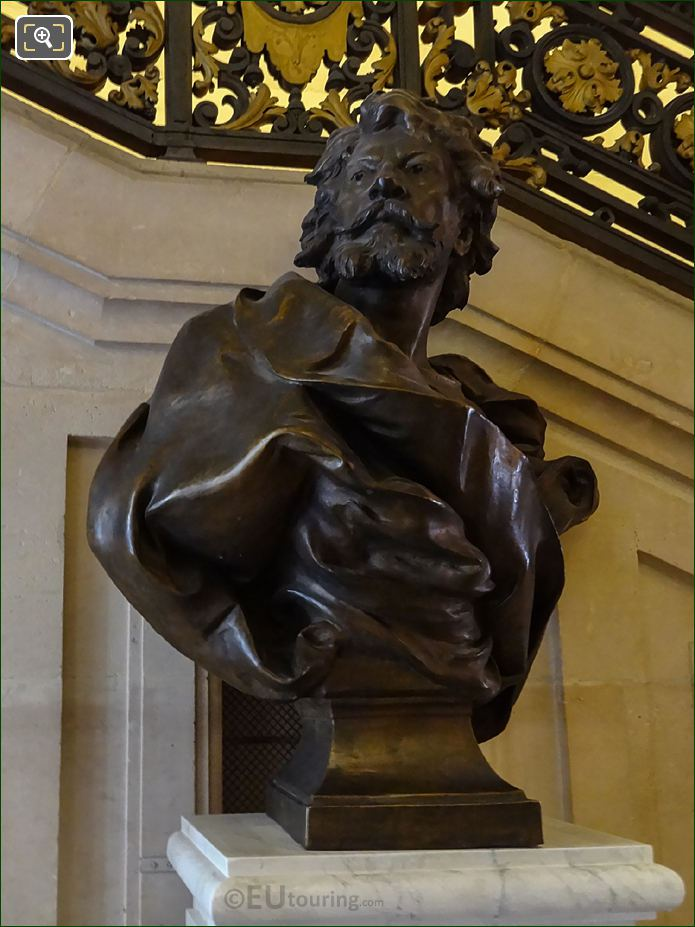 Jean Mounet-Sully Bronze Bust Inside Comedie Francaise
