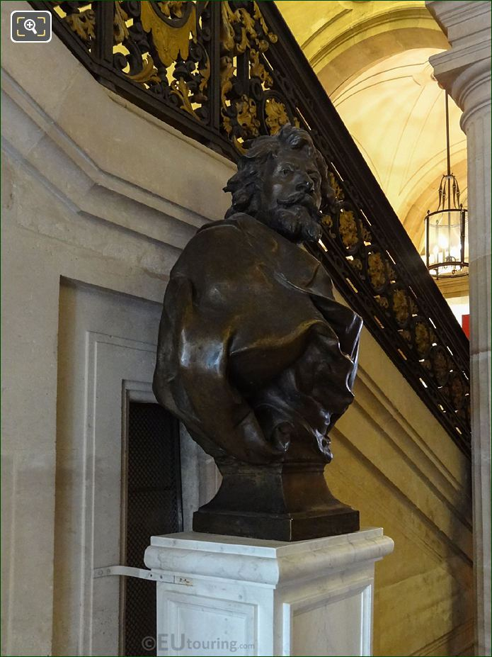 Right Hand Side Of Jean Mounet-Sully Bronze Bust
