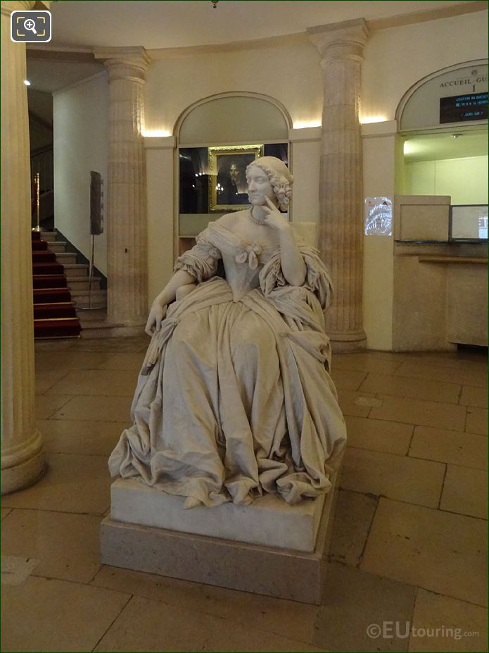 Front Of Mademoiselle Mars Statue In Comedie Francaise