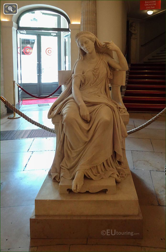 Rachel Statue By French Sculptor Francisque Joseph Duret