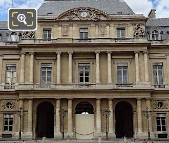 South Facade Of Palais Royal With Clock Pediment Sculpture