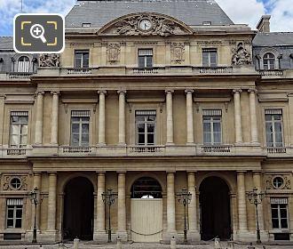 South Facade Of Palais Royal With Clock Pediment Sculpture