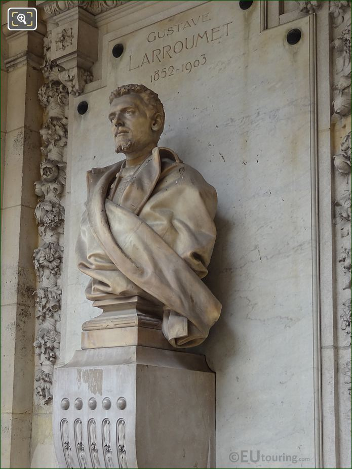 Left Hand Side Of Gustave Larroumet Bust At Palais Royal