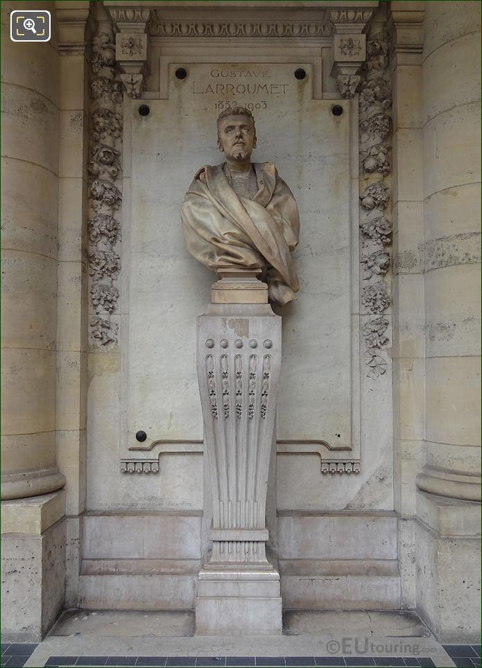 Gustave Larroumet Statue At The Palais Royal