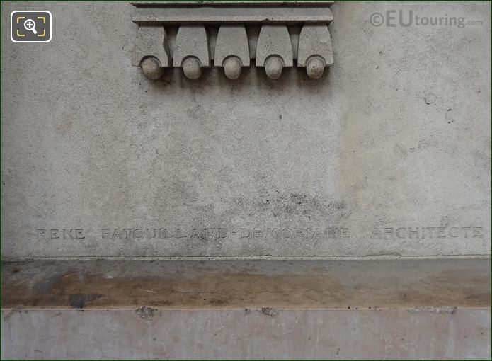 Rene Patouillard-Demoriane Architect Inscription On Gustave Larroumet Statue