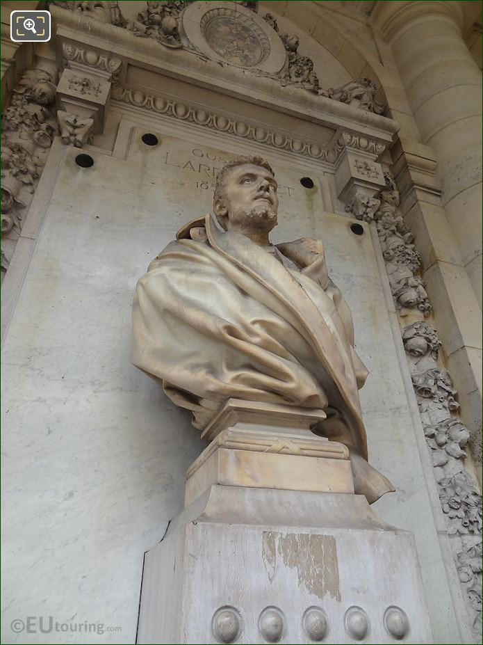 Gustave Larroumet Bust Statue At Palais Royal
