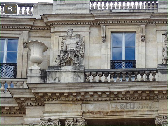 La Science Statue On Palais Royal Balustrade