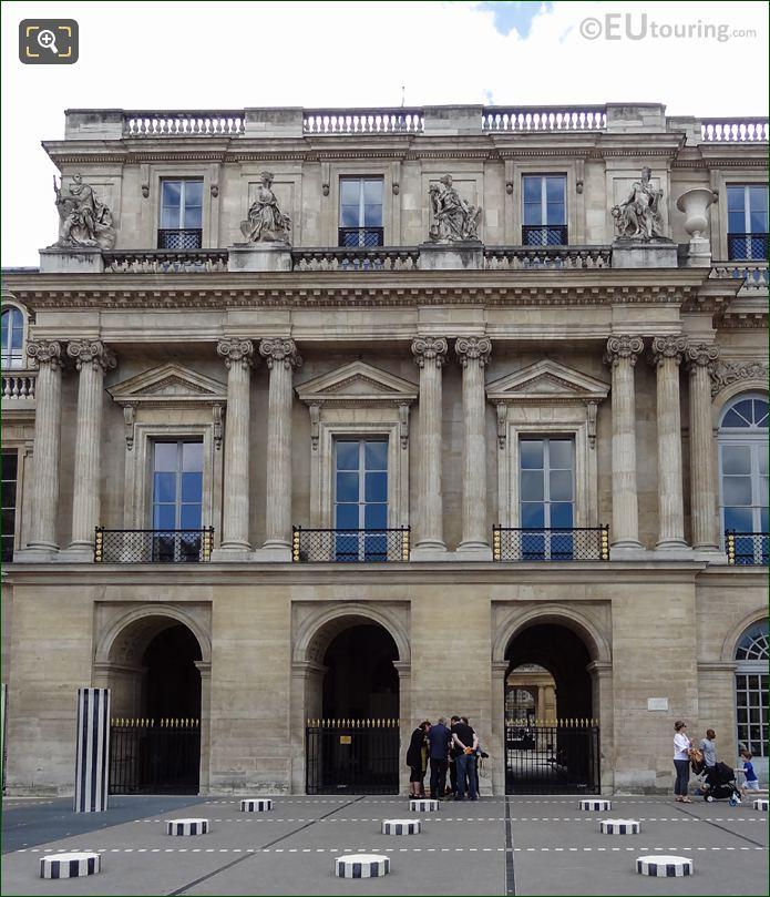 Palais Royal Northern Facade With God Apollo Statue