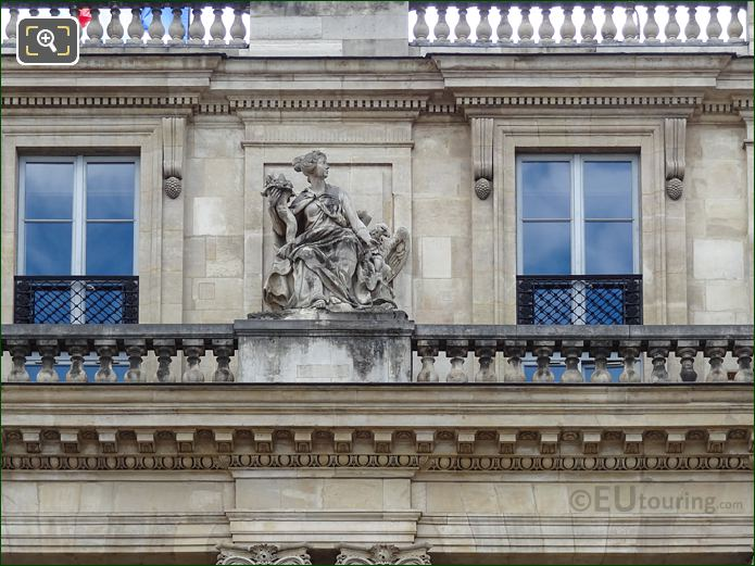 La Liberalite Statue On Palais Royal Balustrade