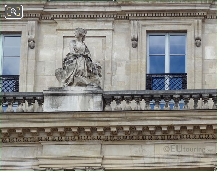 La Prudence Statue On Palais Royal Balustrade