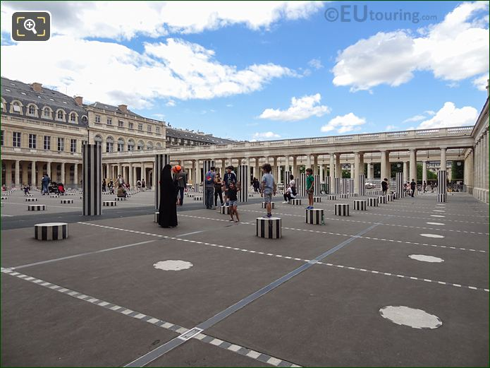Les Deux Plateaux By French Artist Daniel Buren At Palais Royal