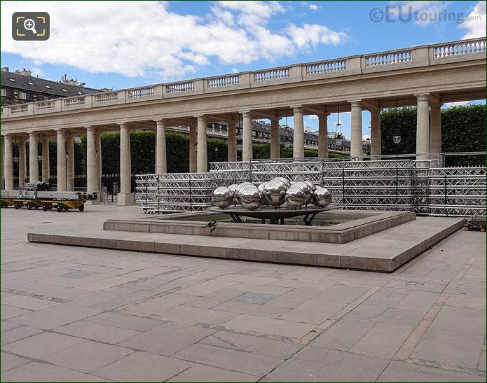 Palais Royal Courtyard And La Fontaine Des Spheres