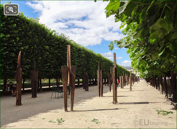 L'Homme Debout Art Exhibition Within Palais Royal Gardens