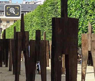 Wooden Of L'Homme Debout Art Exhibition By Korean Artist Chung Hyun