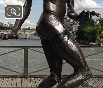 Statue Mickey Pont Des Arts Paris 2016