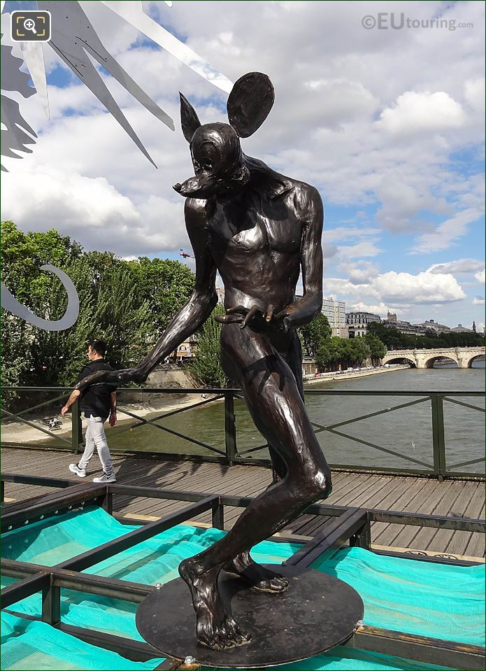 Pont Des Arts Mickey Statue The Enchanted Footbridge Exhibition