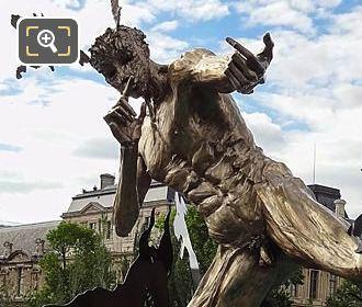 Pont Des Arts Acteon Sculpture By Daniel Hourde