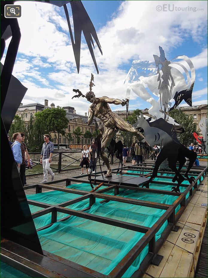 Front Of Acteon Sculpture Pont Des Arts