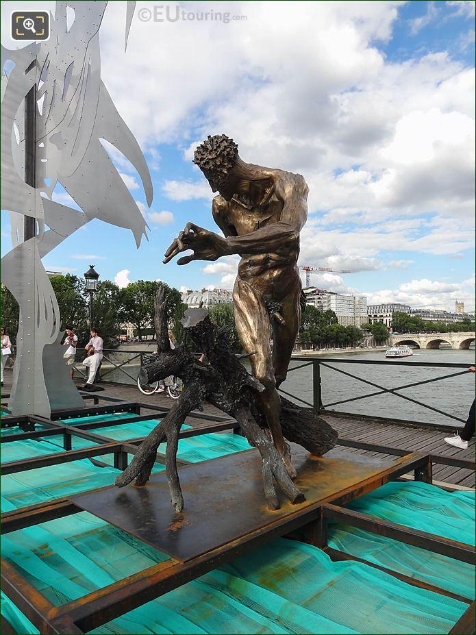 Pont Des Arts Paradise Is Hell Sculpture