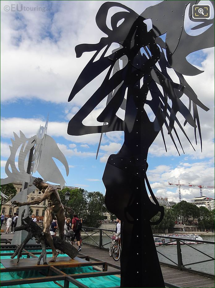 Enchanted Footbridge Exhibition Pont Des Arts Paris