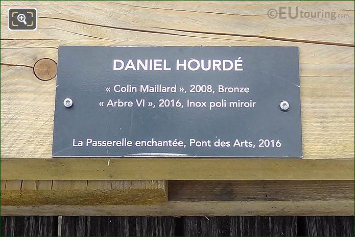 Information Plaque Arbre VI Sculpture