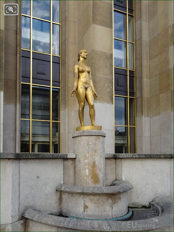Le Printemps Statue On Stone Pedestal