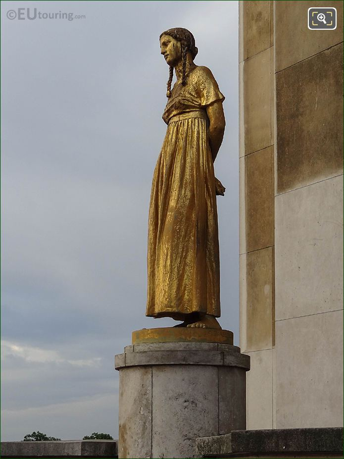 LHS Of Les Fruits Statue