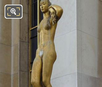 Golden Morning Statue Palais Chaillot