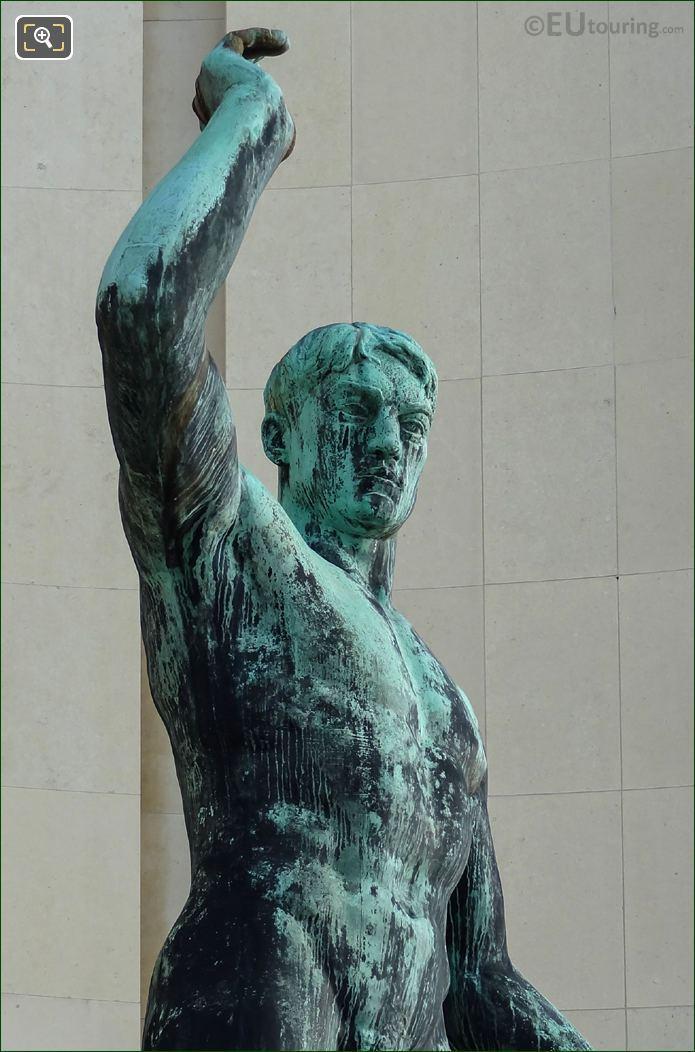 Torso, Head Of Hercules Statue At Palais Chaillot