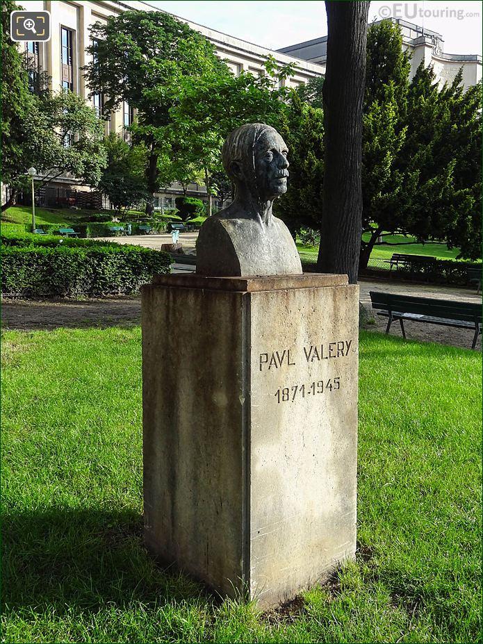 RHS Bronze Paul Valery Bust Jardins Du Trocadero