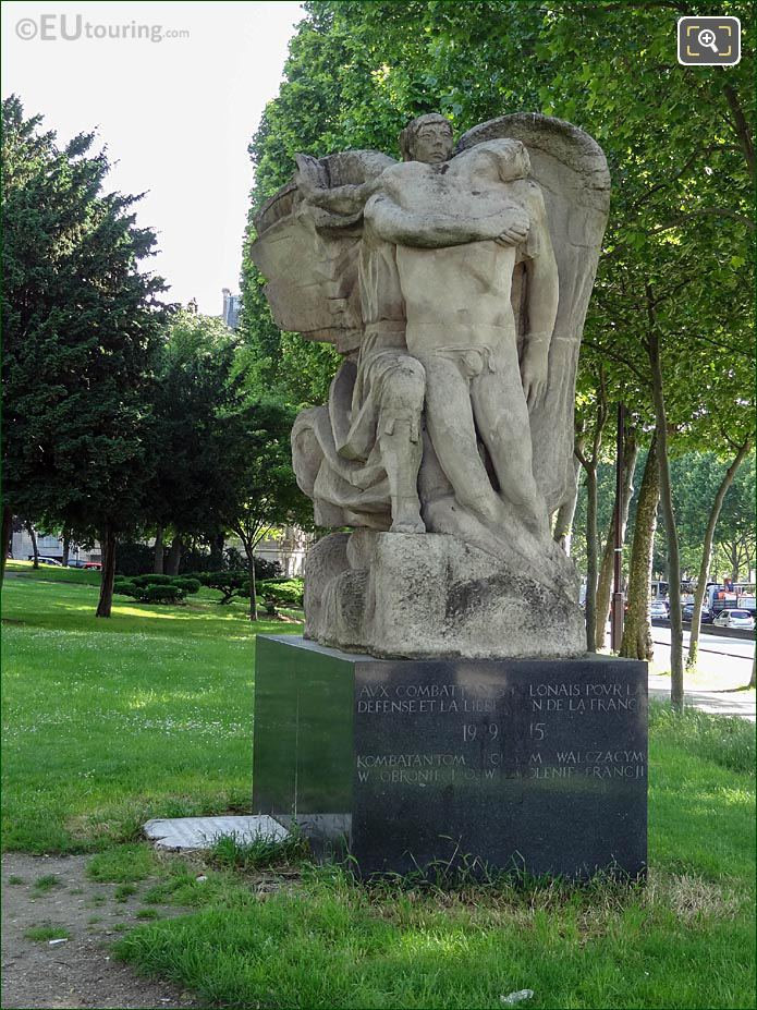 Monument To Polish Fighters 1939 - 1945 Place Varsovie Paris