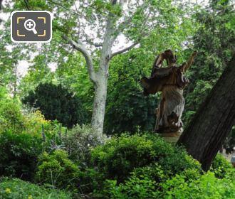 Back La Danse Triomphale A Pallas Athene Statue
