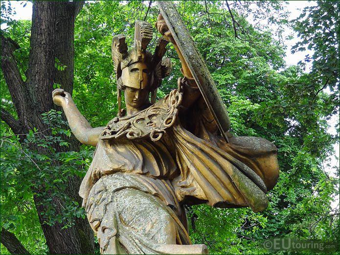 Face Of Danse Triomphale Pallas Athene Statue