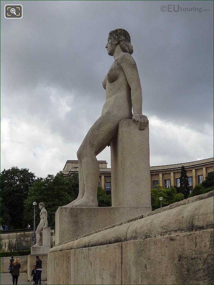 Storm Clouds La Femme Statue