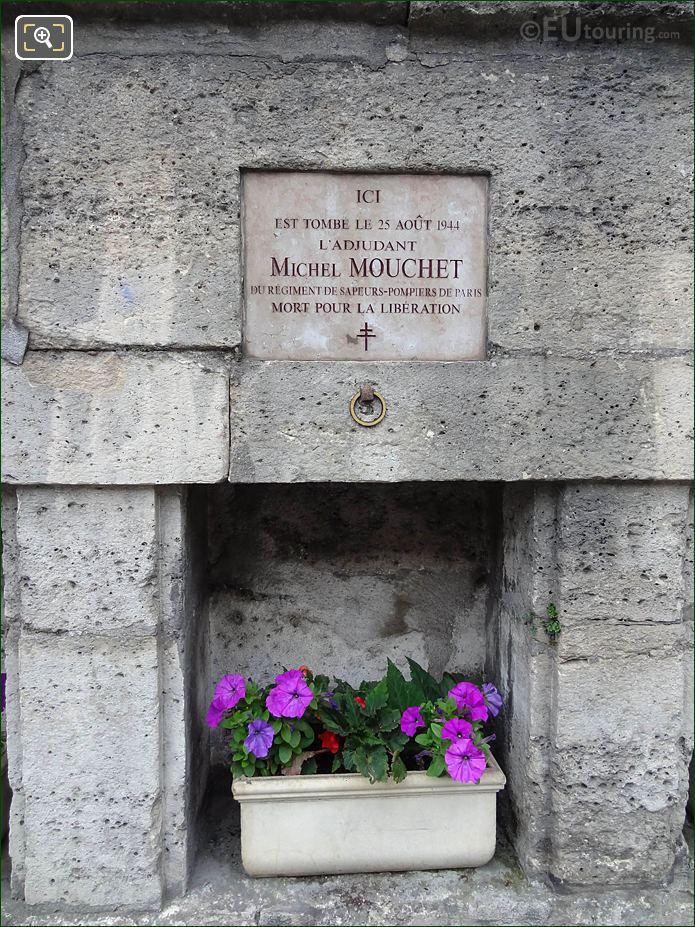 WW II Memorial Michel Mouchet NW Wall Tuileries Gardens