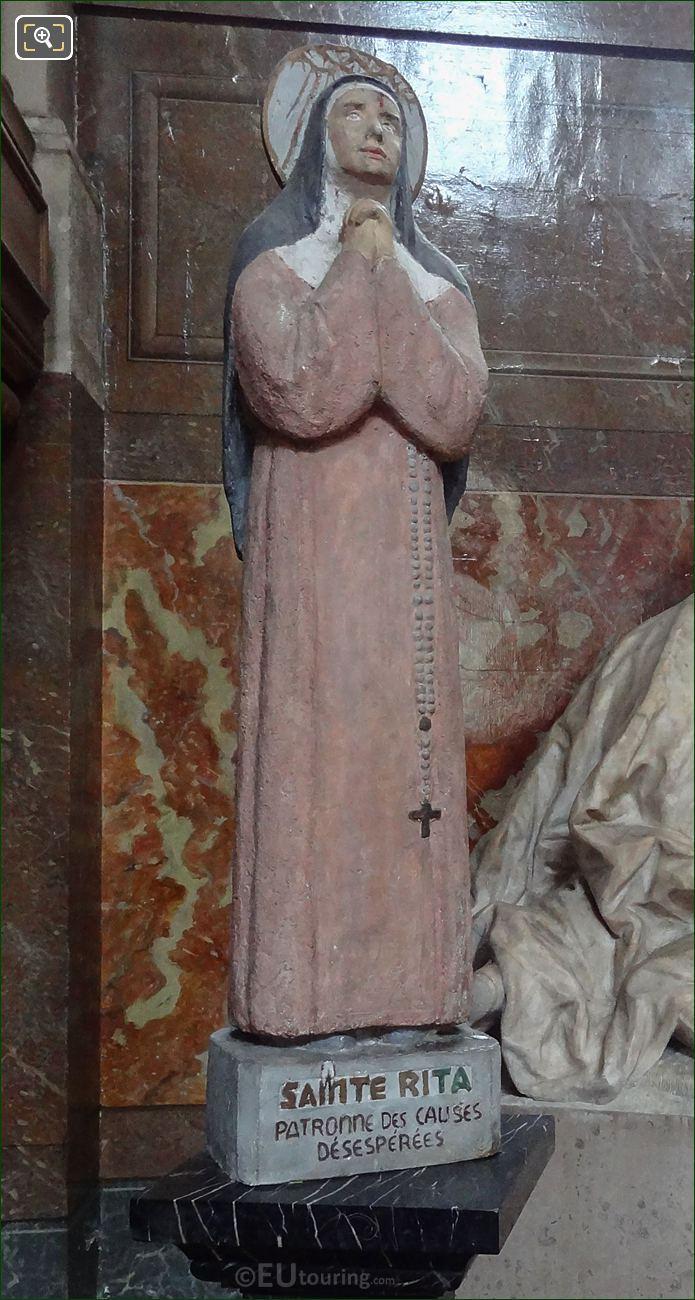 Saint Rita Of Cascia Statue In Chapelle Saint-Nicolas At Eglise Saint-Roch