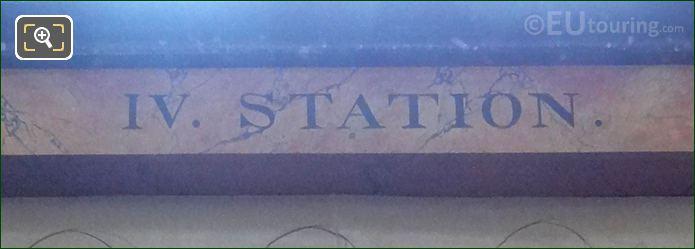 IV Station Inscription On Jesus Accable d'Outrages Sculpture