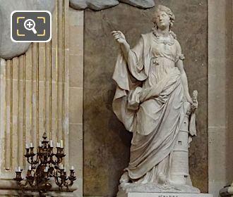 Sainte Barbe Statue On Pedestal In Chapel Of The Virgin