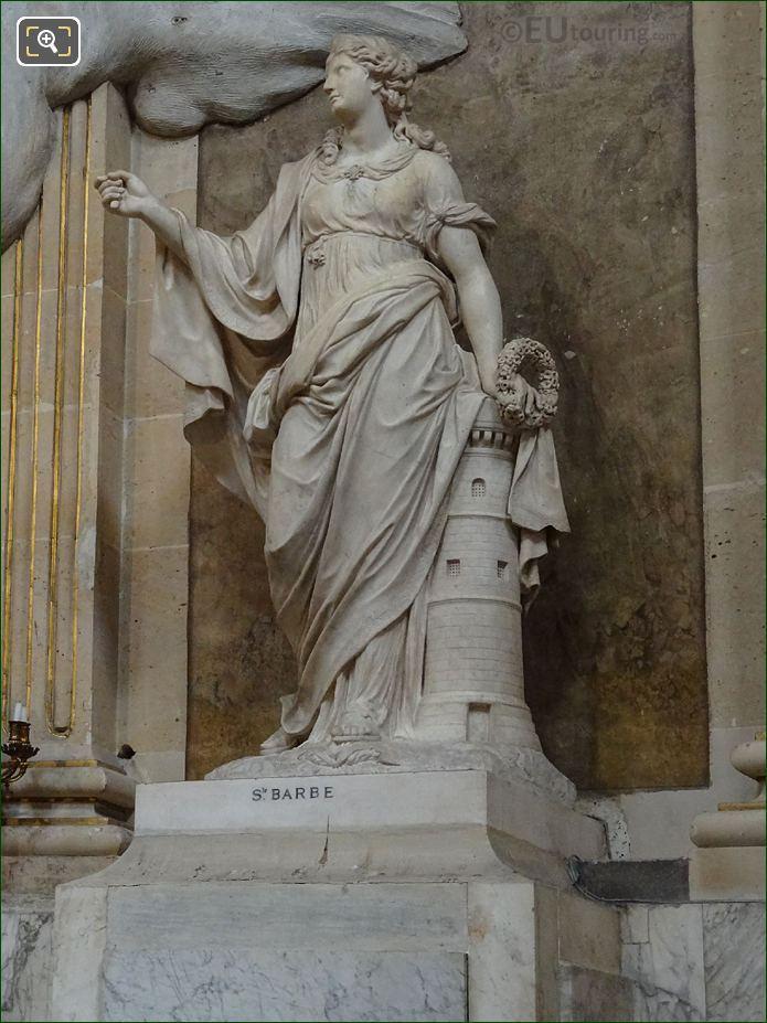 Sainte Barbe Statue Inside Eglise Saint-Roch