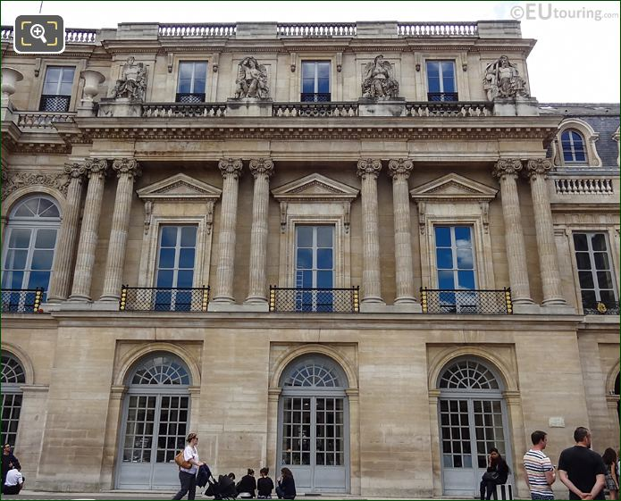 Palais Royal North Facade With L'Agriculture Statue