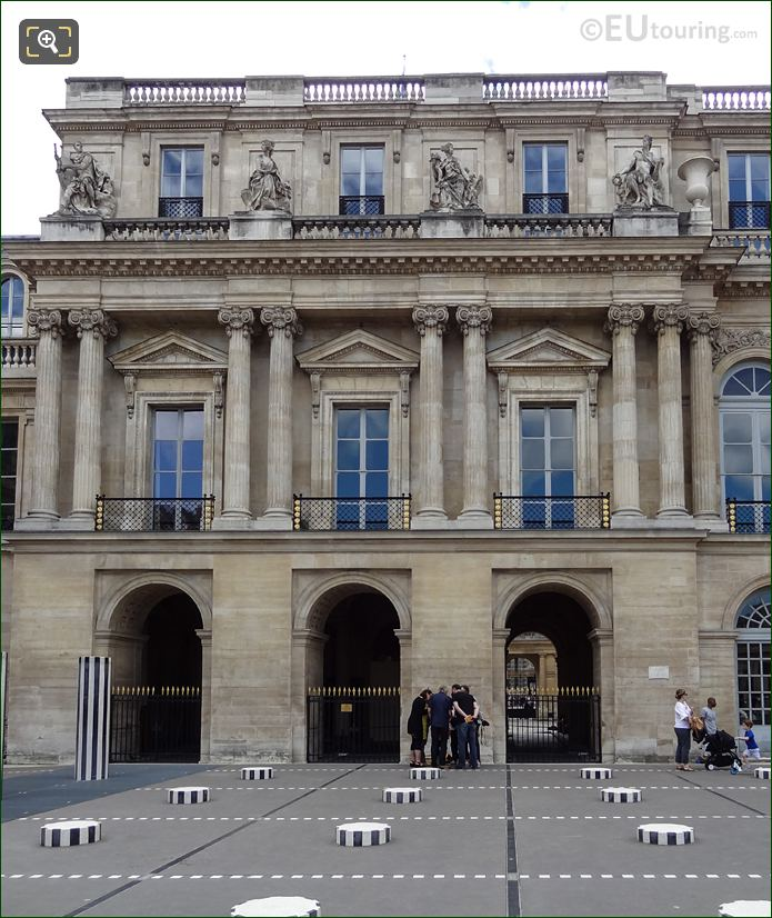 Palais Royal Northern Facade With La Liberalite Statue