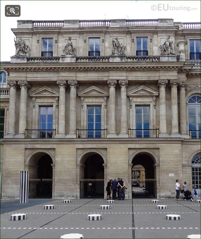 Palais Royal Northern Facade With La Liberalite Statue