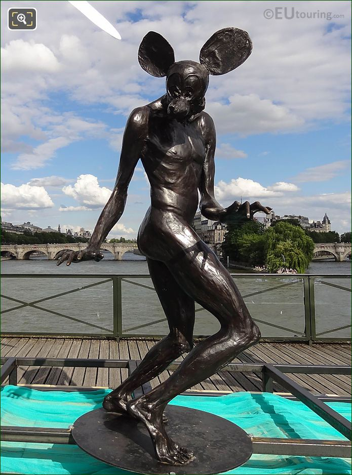 Contemporary Statue Mickey By Daniel Hourde